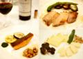魚料理と肉料理そしてチーズ盛合せ_160731