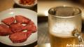 生ビールと特上タン塩@京城園_161112