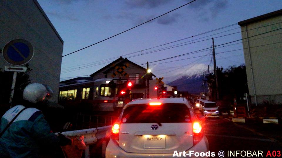 踏切から富士山_170214