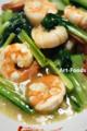 海老と小松菜の炒め物_170425