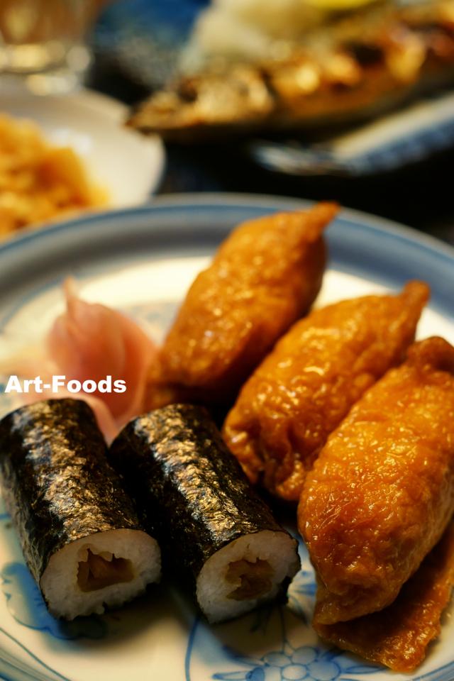 助六寿司と秋刀魚_171114