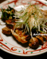 鶏肉の醤油麹焼~ネギ風味_180415