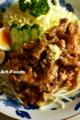 豚コマ肉の生姜焼_180519