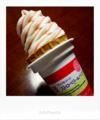 ストロベリーソースのソフトクリーム_180521