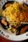バジルソースとミモレットの冷製パスタ-ムール貝ワイン蒸し添え_180604