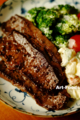 牛ウデ肉のステーキ_180615