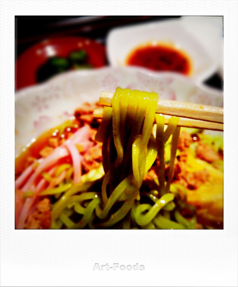 台湾冷麺の翡翠麺@福源_180730