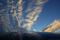 夕焼雲とキャプチャー君のフロントグラス_181002