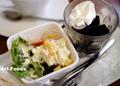 喫茶レストラン百福のモーニング(セットのサラダとコーヒーゼリー)