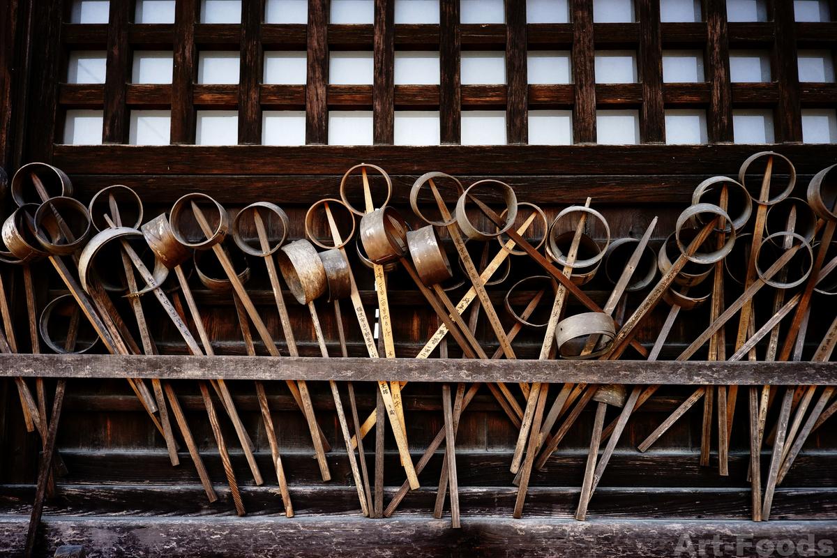 性海寺-拝殿に奉納された底抜け柄杓_190331