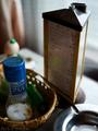 喫茶真珠貝のメニュータワー_190528
