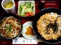 親子丼とうどんのセット@のぶ屋_190610