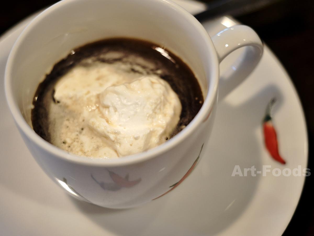 茶処ぽぷりモーニングサービスのウィンナコーヒー_190623