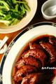 味仙手羽先煮と青菜炒め_190811