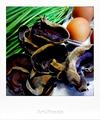 ニラとキクラゲのタマゴ炒めの食材_190917