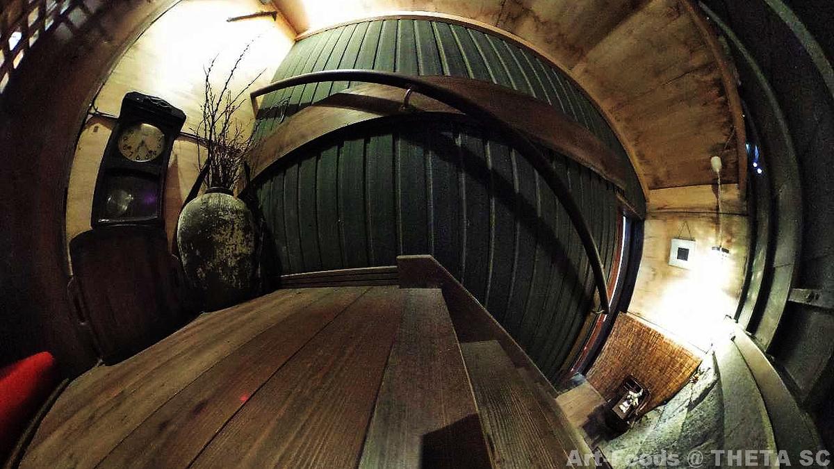 Cafe ギャラリー 茶蔵の蔵2Fへの階段_190929