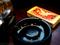 喫茶「希」のテーブルルセットと大箱マッチ_191009