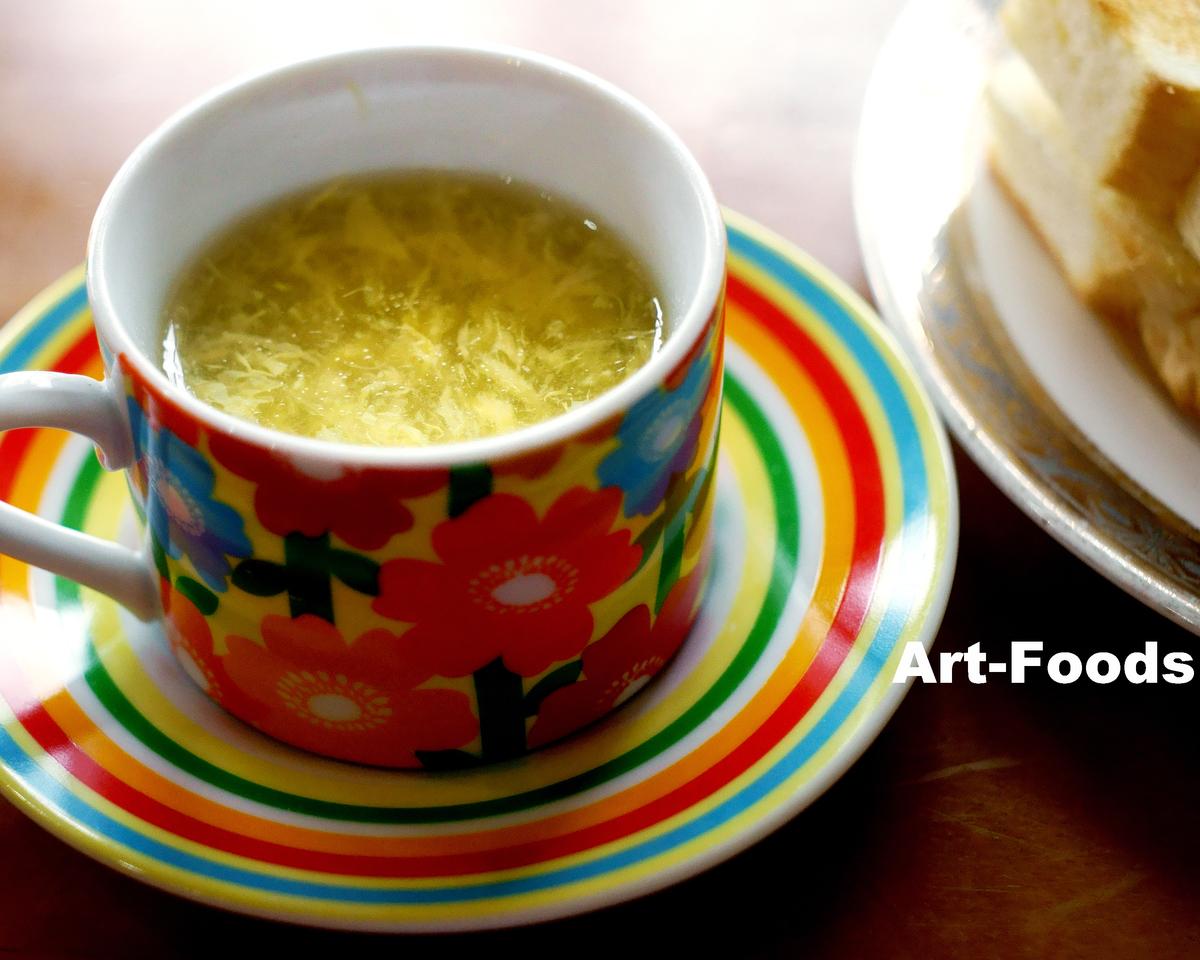 喫茶トマトのモーニングタマゴスープ_191022