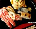 タラバガニと寿司_200104