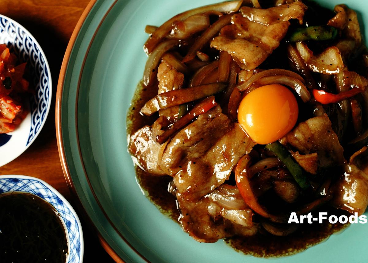 豚バラ焼肉皿盛_200207