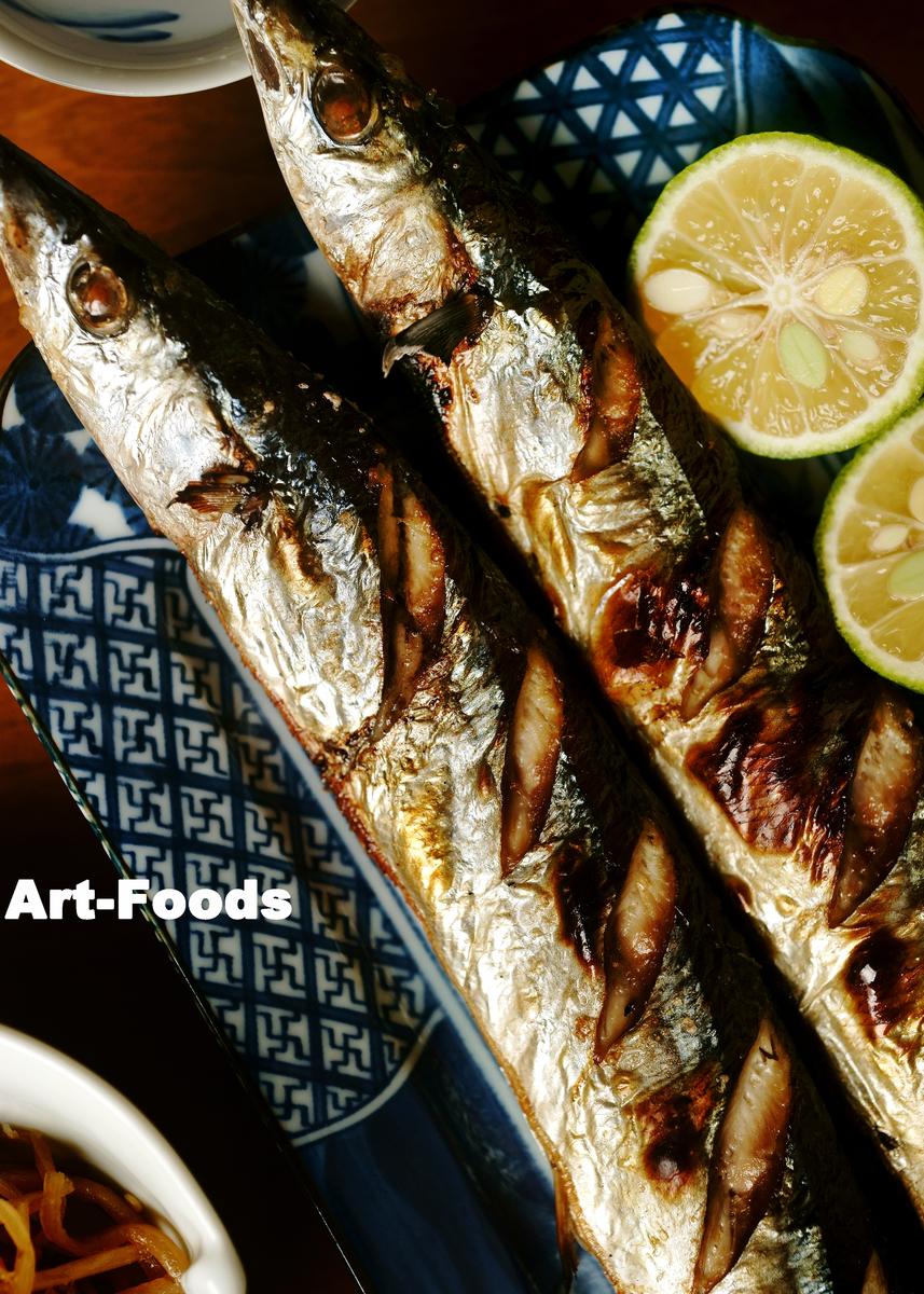 新秋刀魚の塩焼_201015