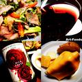 ローストビーフのサラダ仕立てとボージョレヌーボ2020_201205