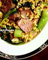 チンゲン菜とベーコンの玉子炒め_210223