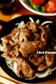 ラム肉ソテーはジンギスカン風_210226