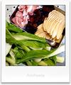タケノコとチンゲン菜そしてキクラゲと豚肉_210301