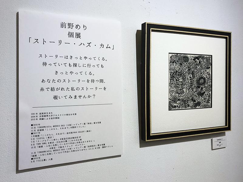 前野めり個展「ストーリー・ハズ・カム」