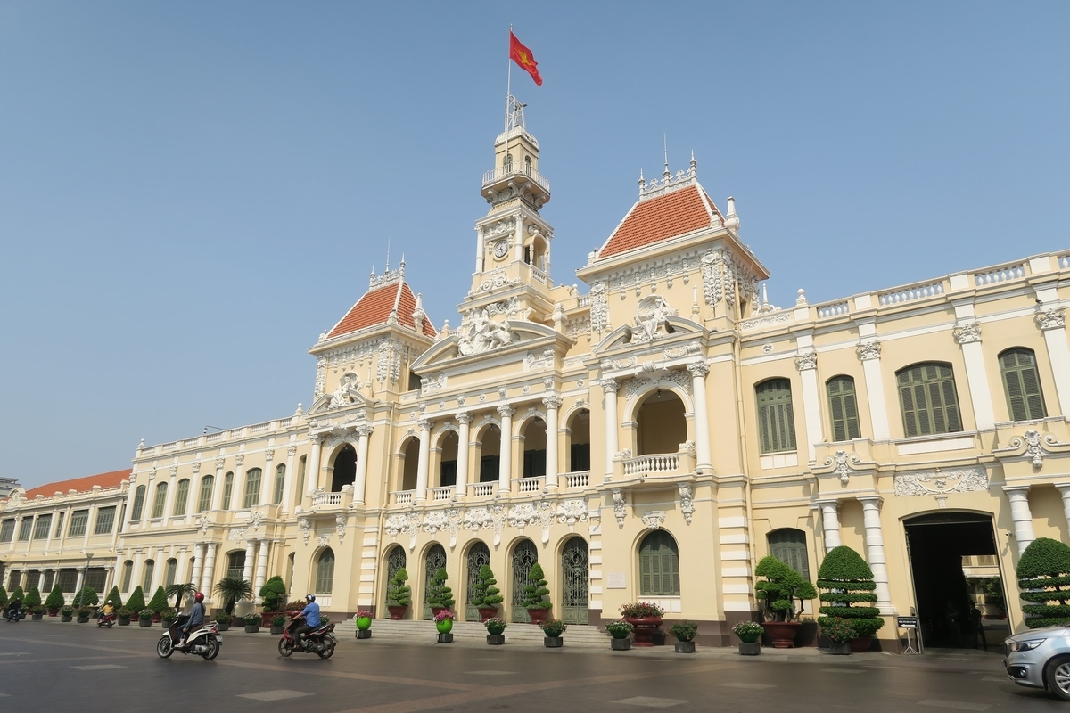 ホーチミン人民委員会庁舎 City or town hall in Ho Chi Minh City