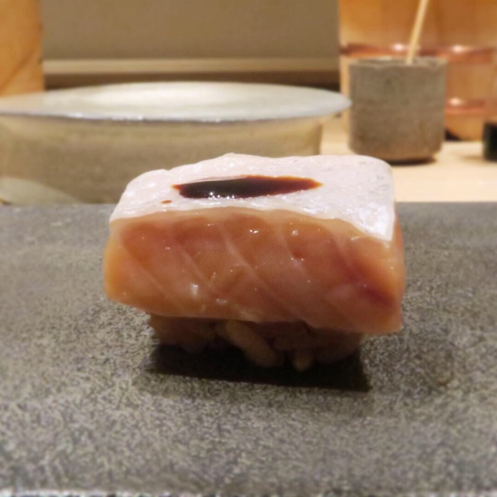 桜鱒の低温調理