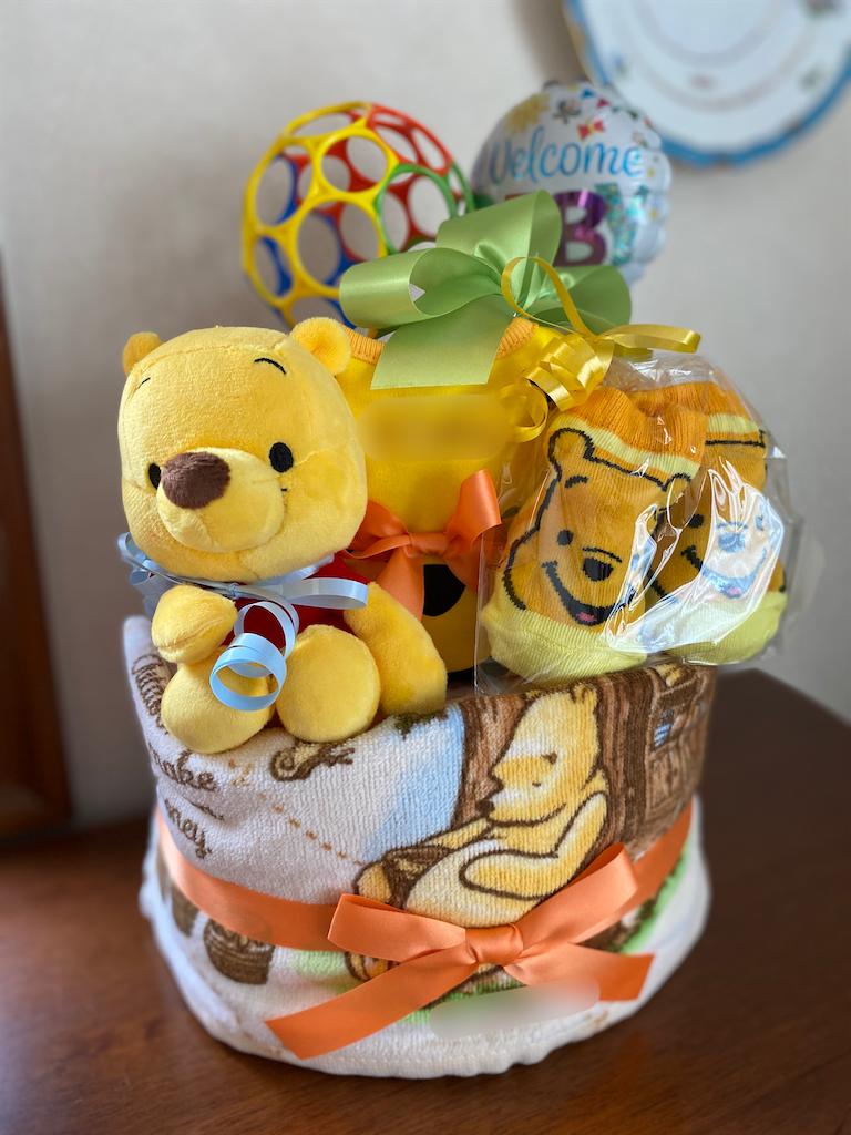 出産祝いのおむつケーキ『くまのプーさん』