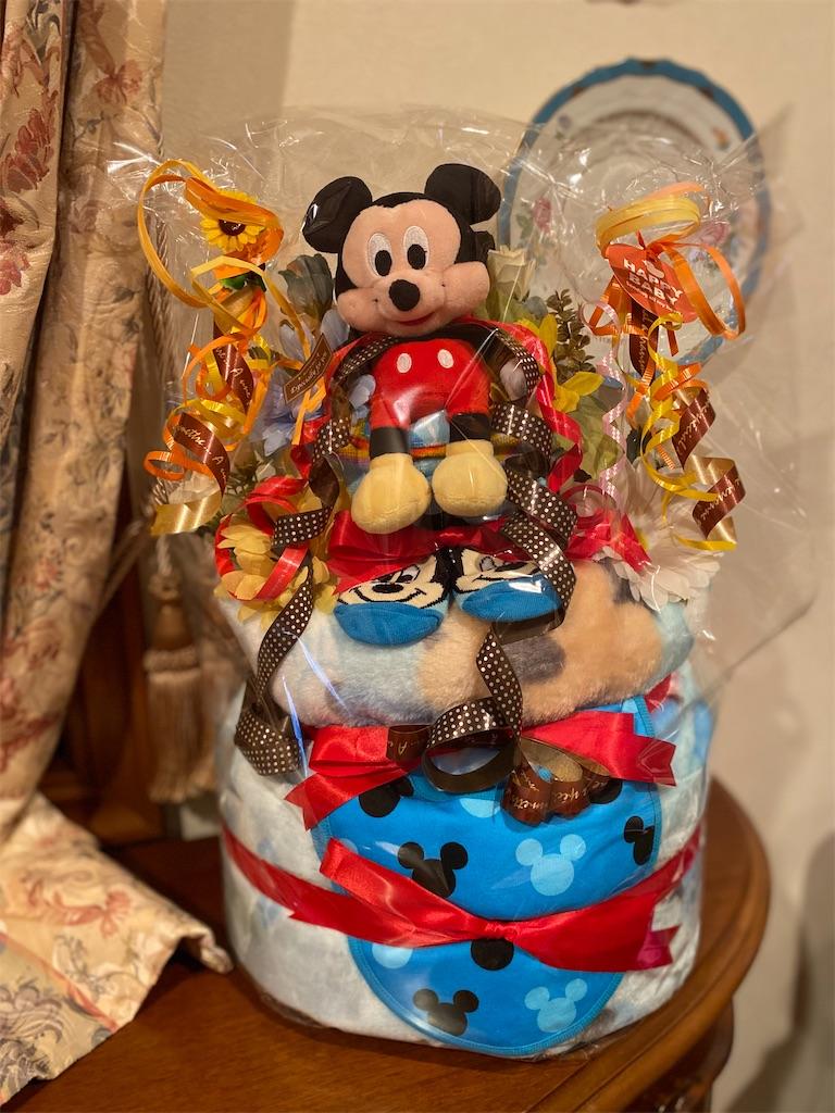 出産祝いのおむつケーキ『ミッキーマウス』