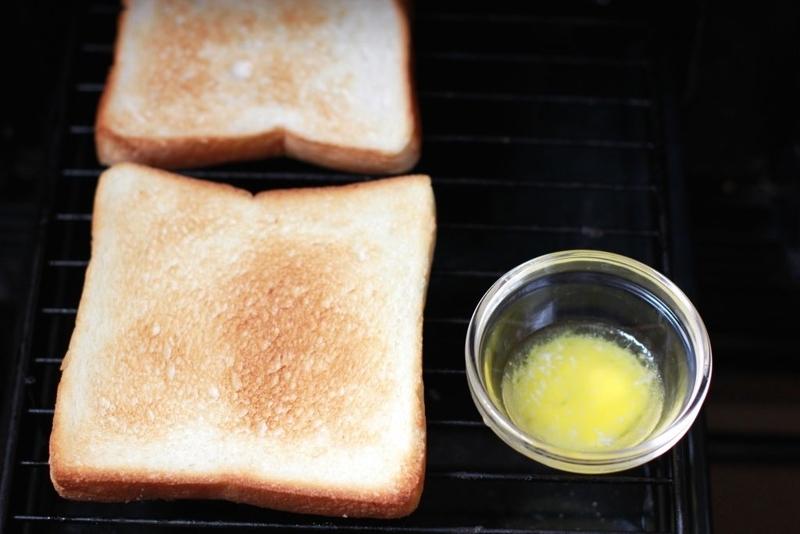 家でサンドイッチ_パン焼き2