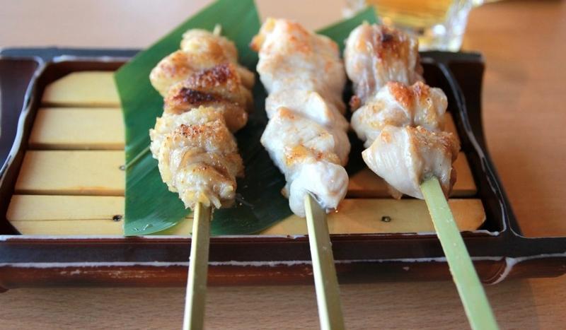 名古屋コーチンの串焼き