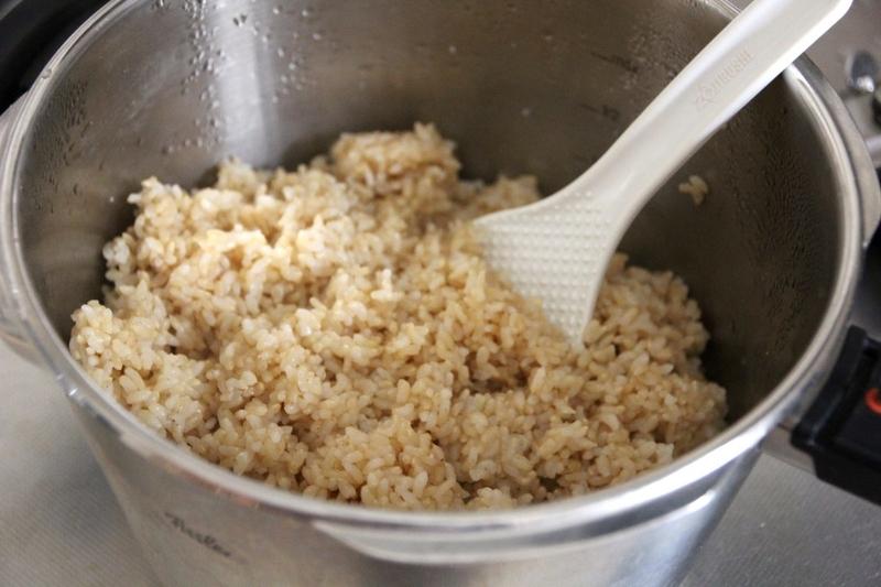 玄米を圧力鍋で炊く
