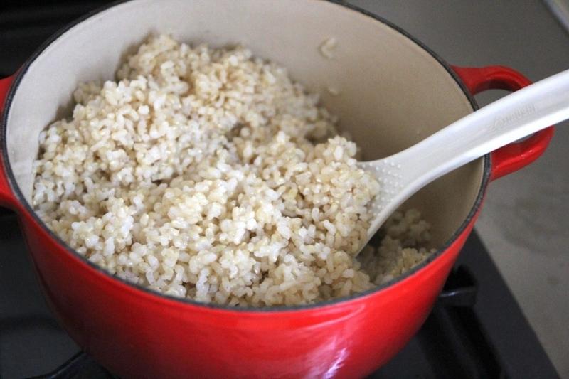 玄米をル・クルーゼで炊く