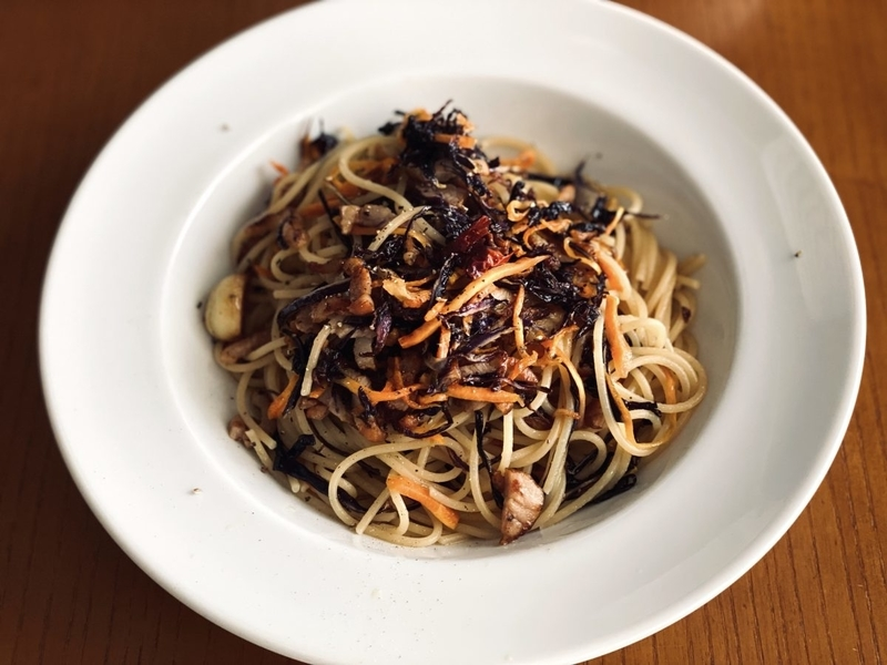 干し野菜のスパゲッティ