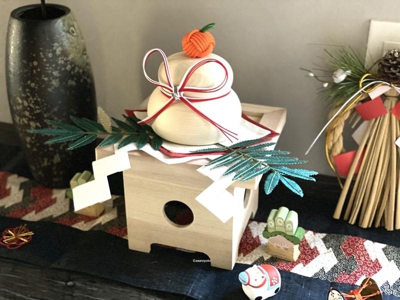 玄関の正月飾り 鏡餅