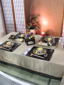 浅野陽子 WINE & COOKING 日々 ノート-テーブルショウ展示和