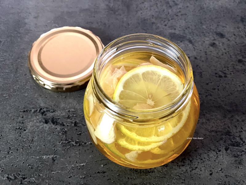 画像 自家製のレモンしょうがはちみつシロップ