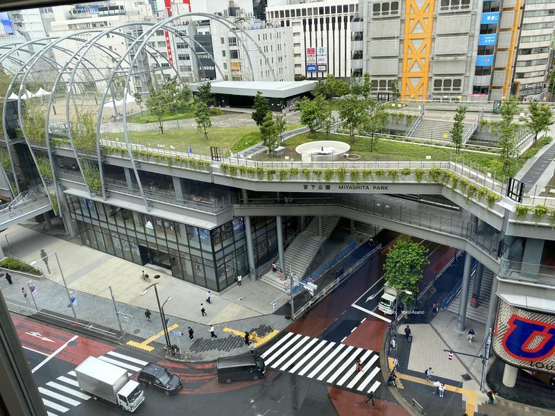 鑑賞した「ヒューマントラストシネマ渋谷」から見た渋谷の街の画像