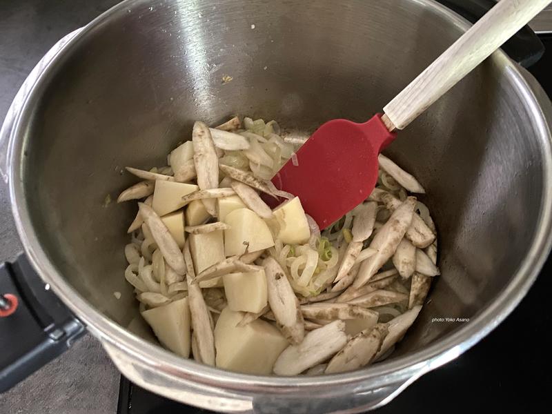 ごぼうのクリームスープの作り方の画像