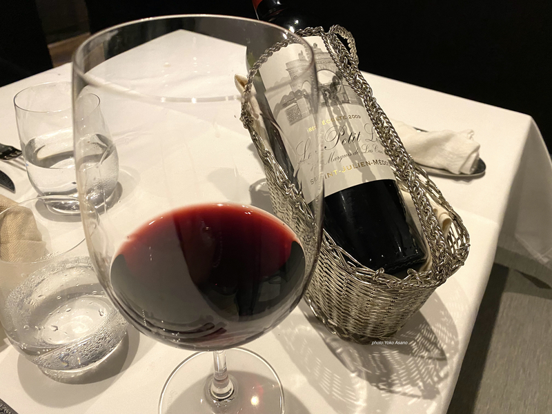 恵比寿のフレンチ、レクテのワインの画像