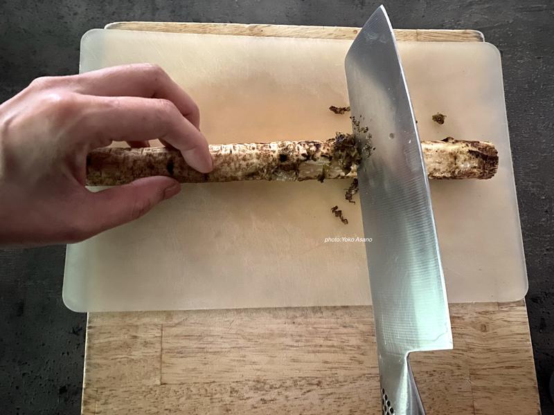 ごぼうの下処理の画像