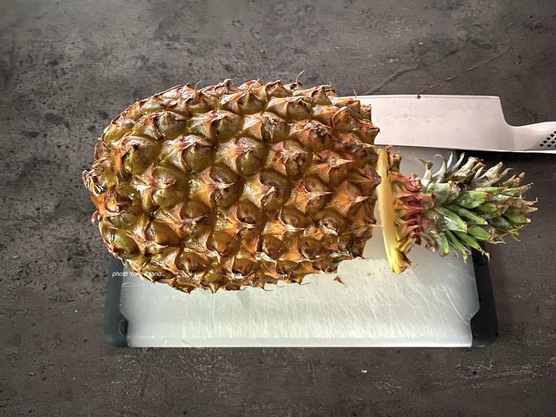 パイナップルの下処理の画像