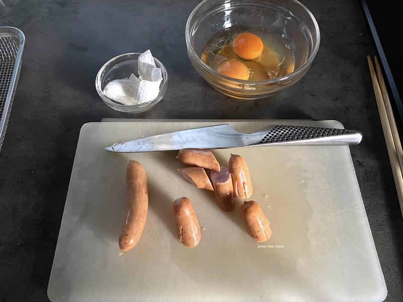 弁当の準備の写真