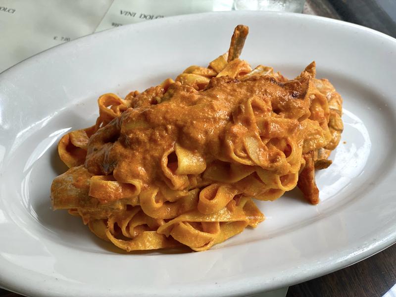 イタリアンレストランの生パスタの画像