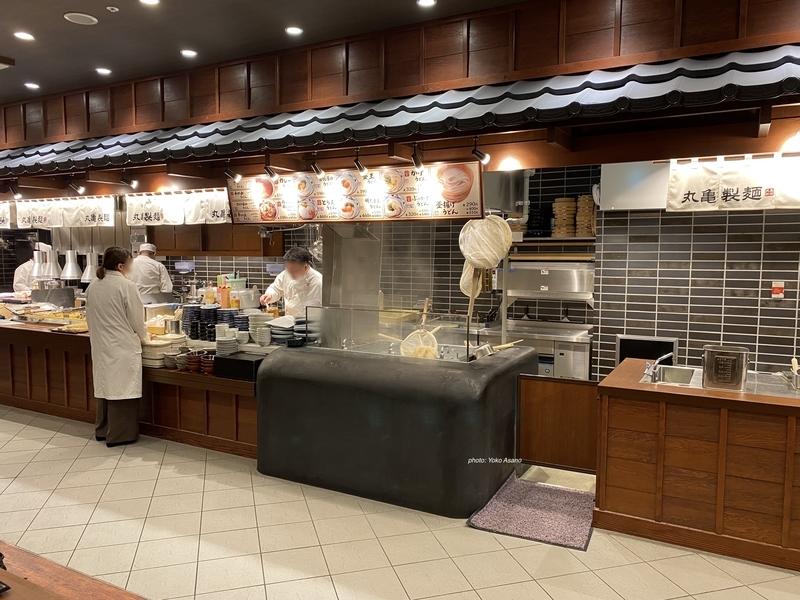 丸亀製麺のテストキッチン